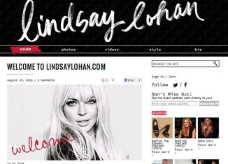 Lindsay Lohan is trying to make a comeback after 90 days in rehab by launching a new website