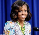 Michelle Obama showed off her brand new look yesterday while speaking at a film screening in Washington, DC