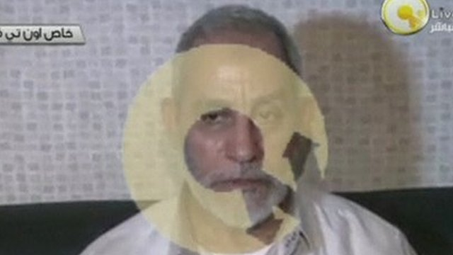 Mohammed Badie the spiritual leader of Egypt's Muslim Brotherhood has been arrested in Cairo photo