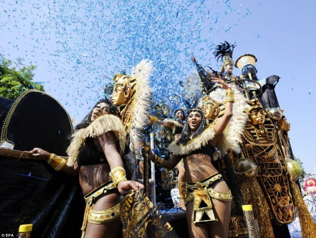 Notting Hill Carnival was first organized by West London's prominent Afro Caribbean community and will celebrate its 50th anniversary on August Bank Holiday 2016 640x481 photo