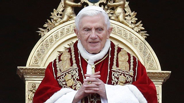 Pope Benedict announced his shock resignation in February and became the first pontiff to step down in 600 years photo