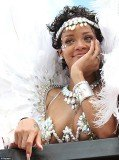 Rihanna at the Kadooment carnival
