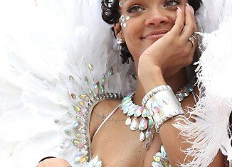 Rihanna at the Kadooment carnival
