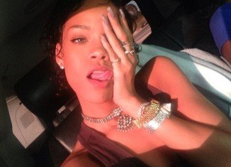Rihanna showed off her stunning new wavy hairstyle