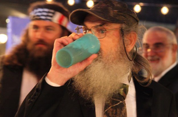 Si Robertson's blue cup was given to him by his mother while he was in Vietnam photo