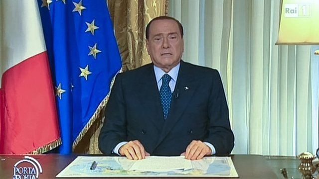 Silvio Berlusconi has broadcast an angry video message after his jail sentence for tax fraud