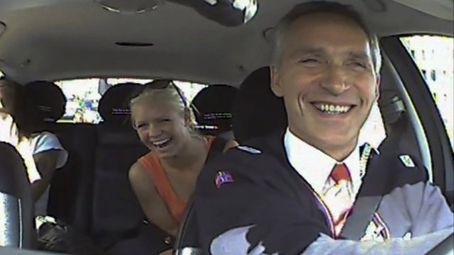 Some of the people in a video of PM Jens Stoltenberg posing as a taxi driver were paid for taking part