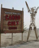 """The art theme of this year's Burning Man Festival is """"Cult Cargo"""" and focuses on a strange being called John Frum"""