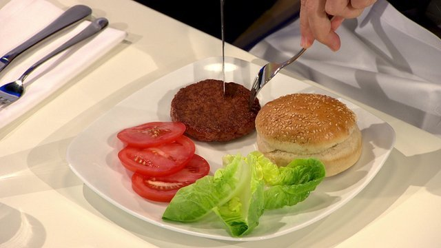 The world's first lab-grown burger was cooked and eaten at a news conference in London