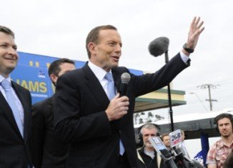 Tony Abbott, the favorite to win next month's Australian general election, has launched his campaign