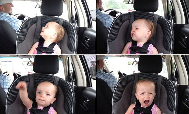 Twenty-month-old Ella Mae was recorded singing Elvis Presley's version of An American Trilogy in her car seat while out for a drive with dad