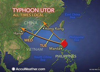 Typhoon Utor has hit the northern Philippines, leaving at least 23 fishermen missing