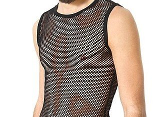Versace has taken the trend by creating full mesh bodysuits for boys