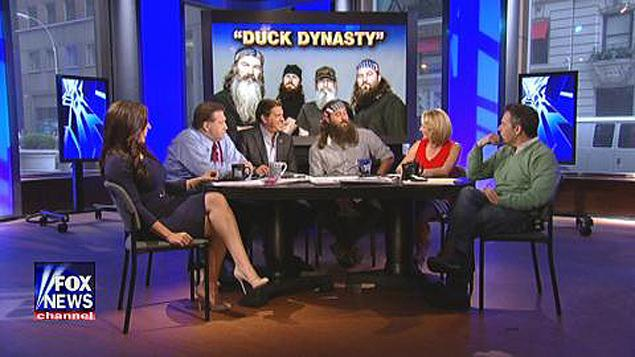 Willie Robertson promoting Duck Dynasty Season 4 on Fox News' The Five  photo