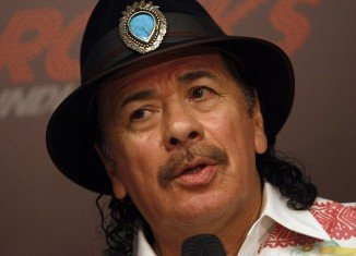 Carlos Santana hit a parked car while cruising through an upscale Las Vegas neighborhood