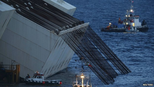 Costa Concordia has been freed from rocks, 20 months after it ran aground