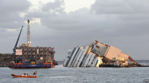 Costa Concordia raising is one of the largest and most daunting salvage operations ever undertaken