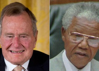 Former President George H.W. Bush announced Nelson Mandela's death after his spokesman misread news flash