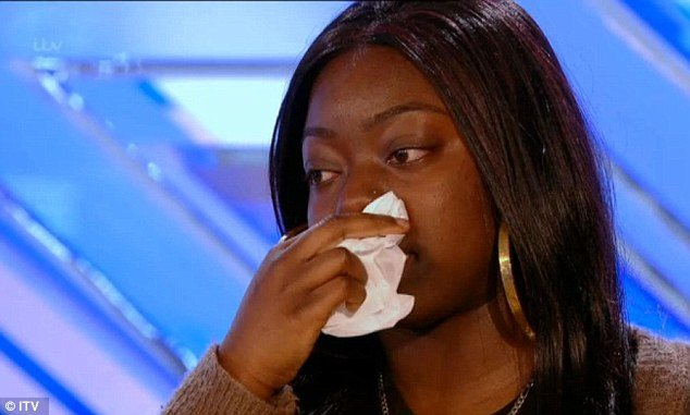 Hannah Barrett broke down in tears as she spoke to X Factor judges