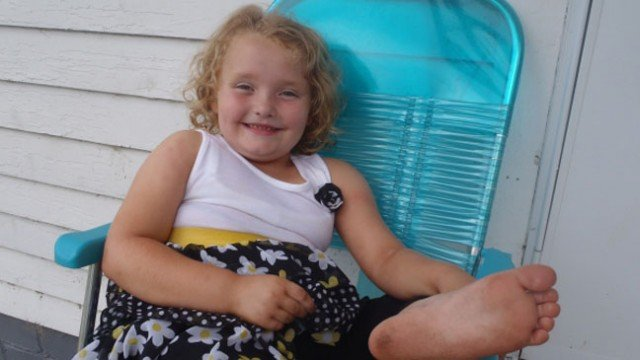 Honey Boo Boo received not one but three cakes to celebrate her eighth birthday