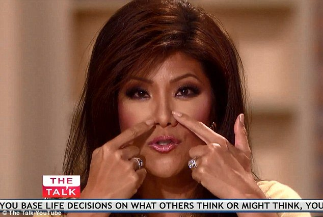 Julie Chen has denied she had a nose job after admitting that she had eye surgery at 25