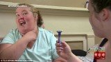 "June Shannon is seen getting a shave from her daughter Lauryn ""Pumpkin"" Shannon in her hit show Here Comes Honey Boo Boo"