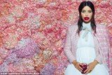 Kim Kardashian, who was heavily pregnant at the time of the May shoot, posed for Karl Lagerfeld with her mouth smeared with jam