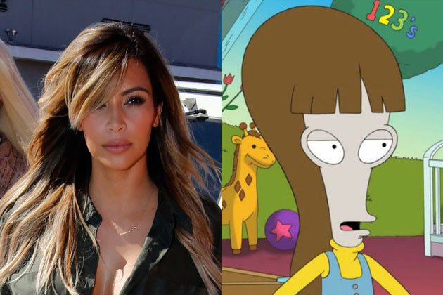 Kim Kardashian will appear on an upcoming episode of the Fox cartoon comedy American Dad later in this season photo