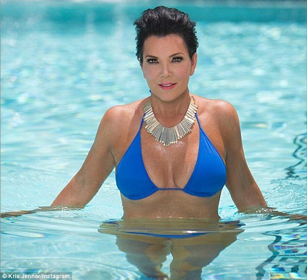Kris Jenner posted her own bikini photo after daughter Kendall shared stunning swimsuit snapshot