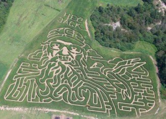 Misty and Lamar Duren's corn maze looks like Si Robertson