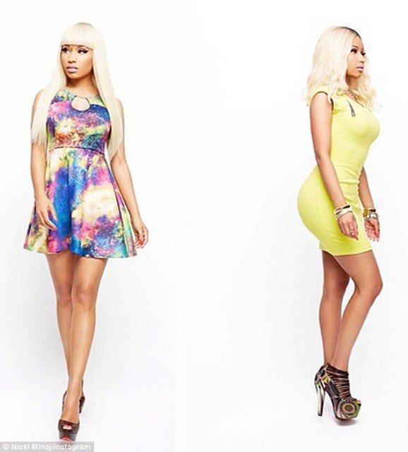 Nicki Minaj took to Instagram to give her fans a generous peek at her upcoming collection for Kmart