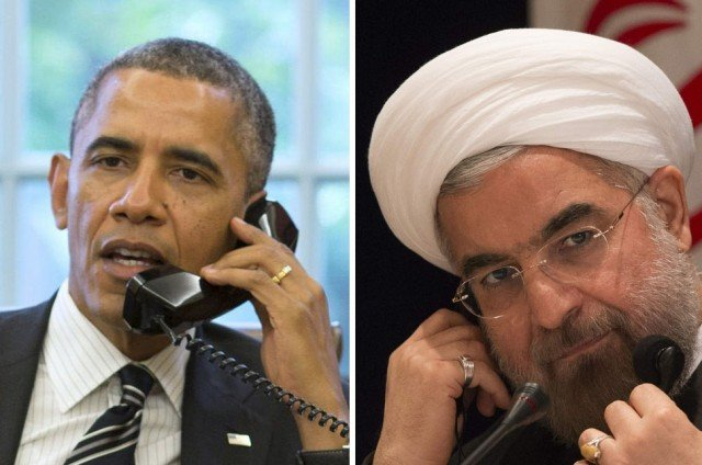 President Barack Obama in historic phone call with Iran's President Hassan Rouhani
