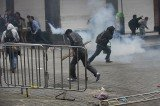 Riot police have clashed with striking teachers during an operation to clear occupied Mexico City's Zocalo Square