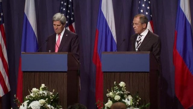 Russia and the US have agreed in Geneva that Syria's chemical weapons must be destroyed or removed by mid-2014
