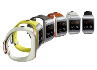 Samsung Galaxy Gear is being made available with a range of colorful watch straps
