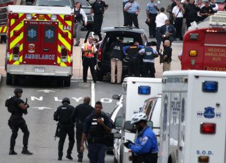 Several people have been shot by a gunman at the Washington Navy Yard