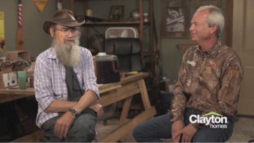 Si Robertson and wife Christine are new owners of a Clayton Homes
