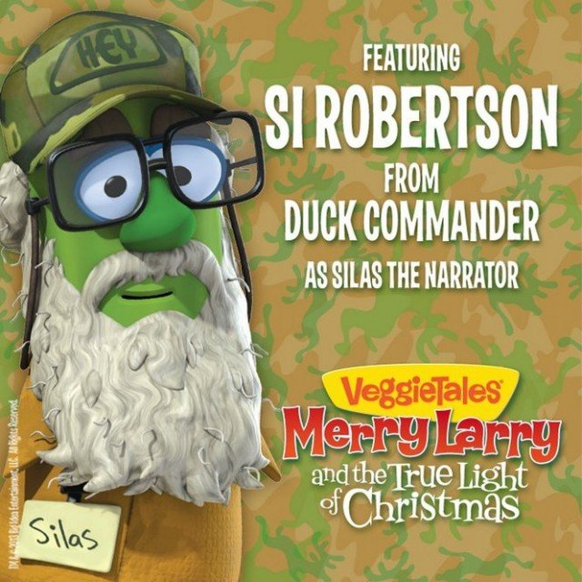 Si Robertson makes cartoon debut as Silas the Narrator in a new Veggie Tales story Merry Larry and the True Light of Christmas 640x640 photo