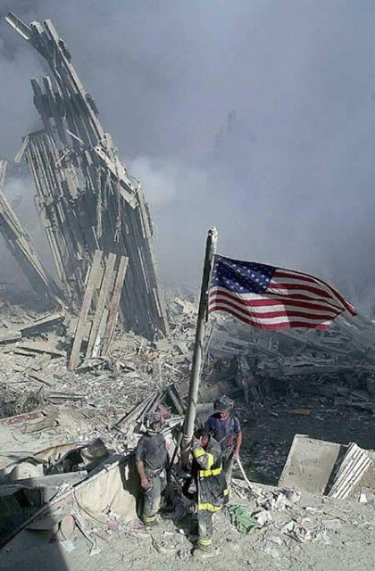 The iconic flag disappeared the night of September 11 and has never been seen again 420x640 photo