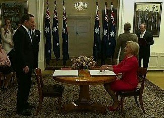 Tony Abbott has been sworn in as Australia's prime minister
