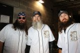 Willie, Jase and Si Robertson were invited to Comerica Park to throw out the first pitch