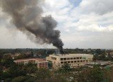Witnesses described hearing four large explosions at the Westgate Shopping Centre followed by the sight of thick plumes of smoke