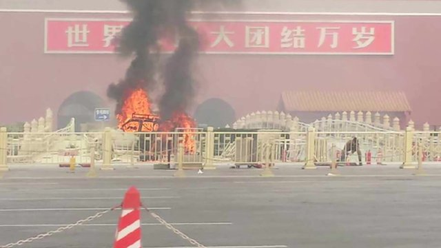 At least five people died and 38 others were injured after a vehicle crashed in Tiananmen Square in Beijing