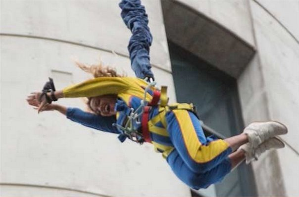 Beyonce decided to jump a freefall off Sky Tower in New Zealand
