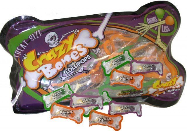 Halloween Crazy Bones Lollipops