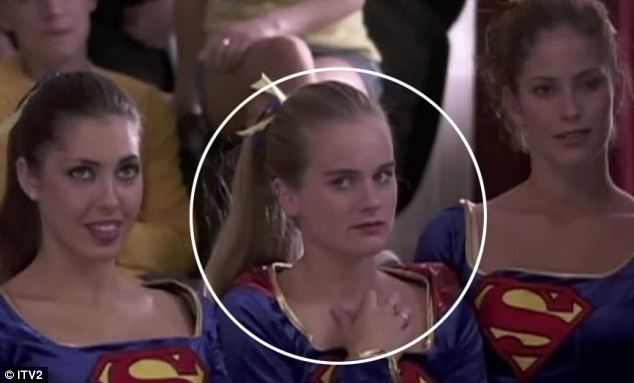 Cressida Bonas appeared in just two minutes of the canned Trinity series wearing a cheerleader costume