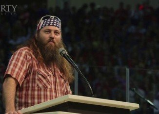 Duck Dynasty's Willie Robertson during Liberty University's Convocation