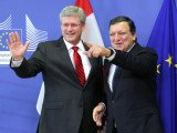 European Commission President Jose Manuel Barroso and Canadian PM Stephen Harper agreed the deal at a meeting in Brussels