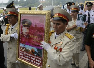 General Vo Nguyen Giap two-day state funeral is in its final stages inVietnam