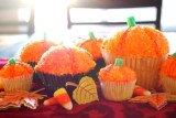 Halloween Glittery Pumpkin Cupcakes